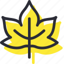 autumn, fall, leaf, maple, nature icon