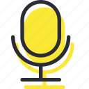 mic, microphone, record, sound, speaker icon