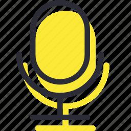 mic, microphone, record, sound, speaker icon