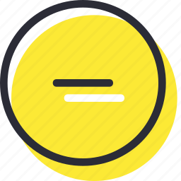cancel, close, decrease, delete, mius, remove icon