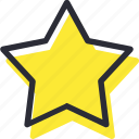 bookmark, favorite, rate, shine, star icon
