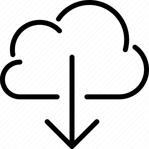 cloud, cloud storage, download icon