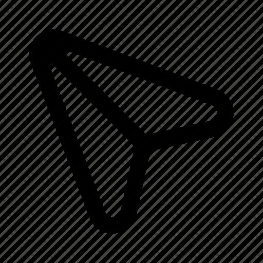 arrow, back, navigation, send, share, ui icon