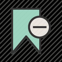 app, bookmark, cancel, delete, unmark, web, website icon