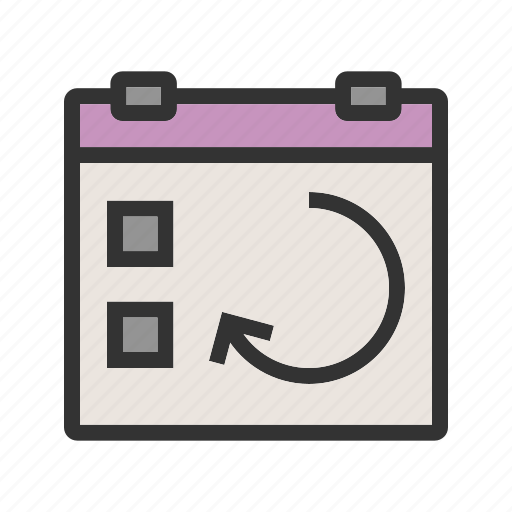 calendar, day, event, plan, repeat, sync, update icon