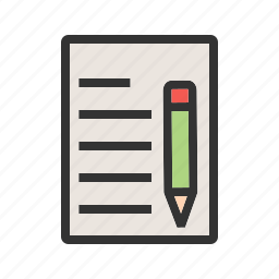 amend, business, details, document, office, sign, update icon
