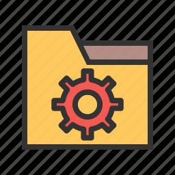 computer, folder, internet, settings, sign, technology, web icon