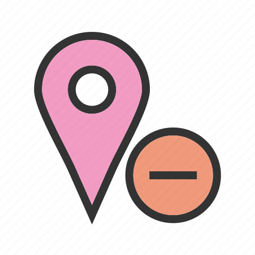 delete, location, map, marker, sign, travel, web icon