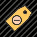 delete, fixed, label, mark, nodiscount, sticker, tag