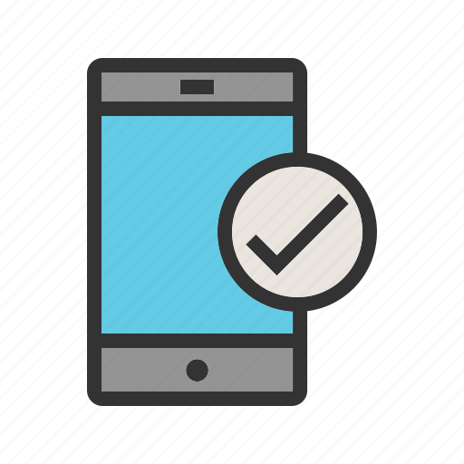 approved, click, device, sign, tablet, valid, yes icon