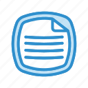 data, document, file icon