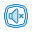 audio, mute, silent, sound icon