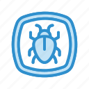 bug, malware, threat, virus icon