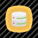 database, disk, server, storage