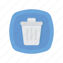 delete, recycle, trash icon