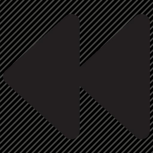 backward, fast, multimeda icon icon
