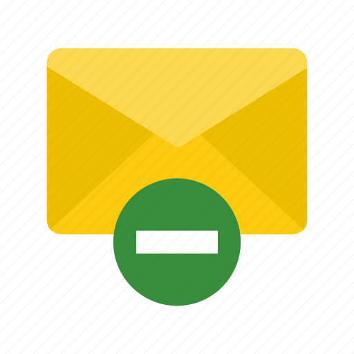 delete, envelope, letter, mail, message, remove, web icon