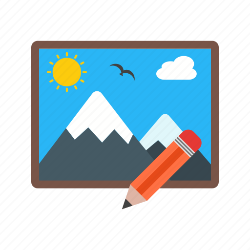 change, edit, image, monitor, picture, remove, technology icon