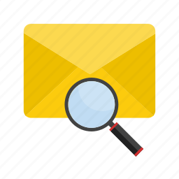 document, envelope, letter, mail, message, search, web icon