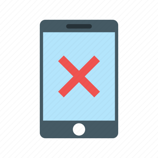 approved, device, invalid, no, red, sign, tablet icon