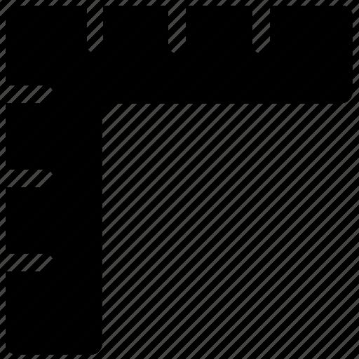 angle ruler, carpentry, measuring utensil, scale, square ruler icon