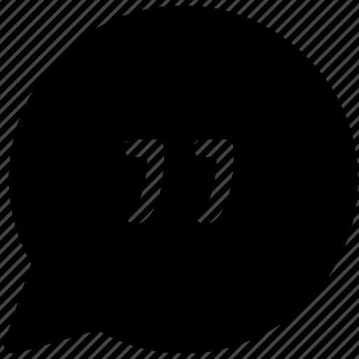 citation, comment, quoting, remark, speech bubble icon