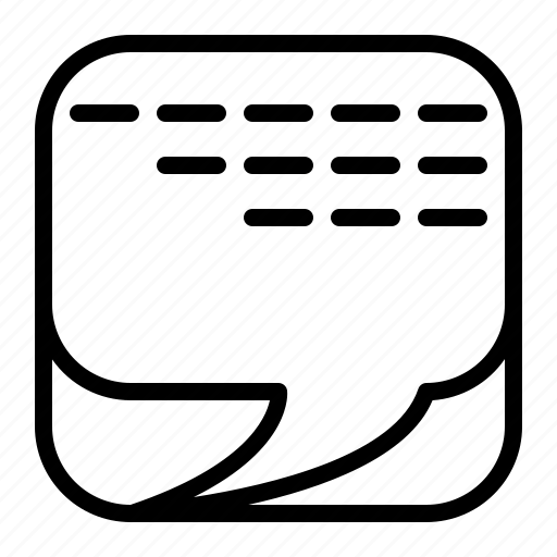 box, bubble, chat, communication, message, social, talk icon