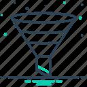 bottleneck, filtering, filtration, funnel, tool icon