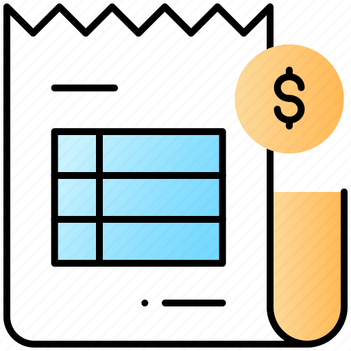 bill, invoice, pay, ui, user interface icon