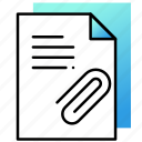 attachment, document, file, ui, user interface icon
