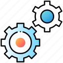 active, gear, setting, ui, user interface icon