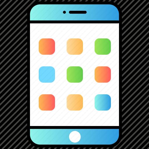application, code, develop, mobile, ui icon