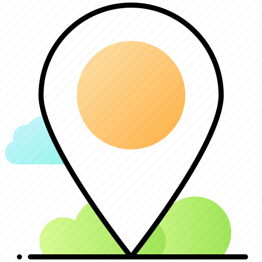 map, pin, place, ui, user interface icon