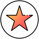 favorite, note, star, ui, user interface icon
