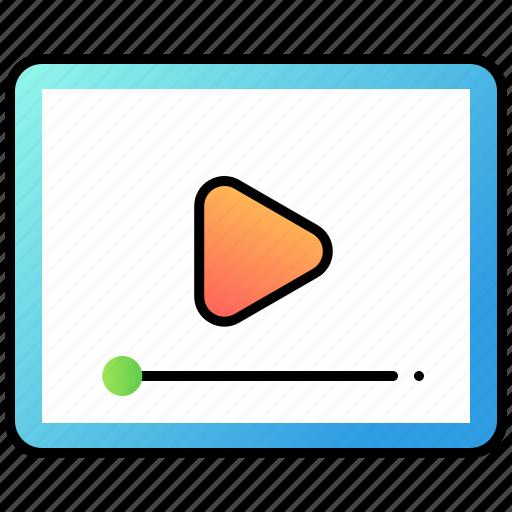 marketing, play, ui, user interface, video icon
