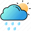 cloud, sun, ui, user interface, weather icon