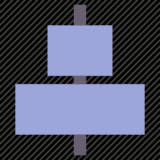 align, alignment, center icon