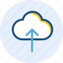 cloud, interface, navigation, upload, user icon