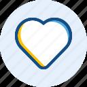 interface, like, love, navigation, user icon