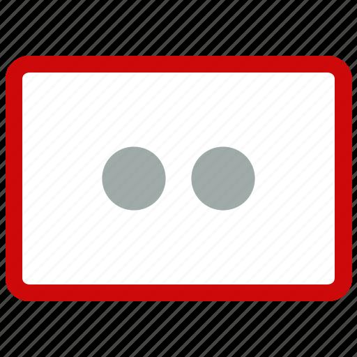 error, text icon