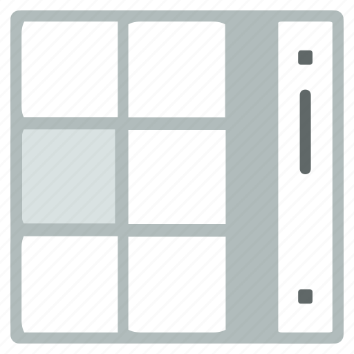 menu, scroll icon