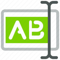 select, text icon