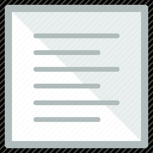 design, interface, list, ui, user, written icon