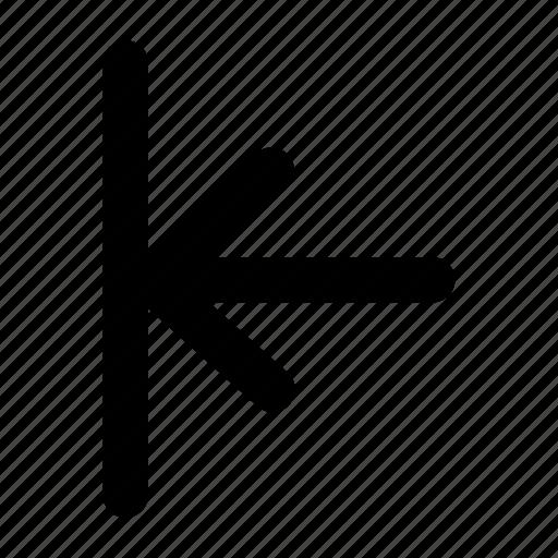 align, left, previous, user interface icon