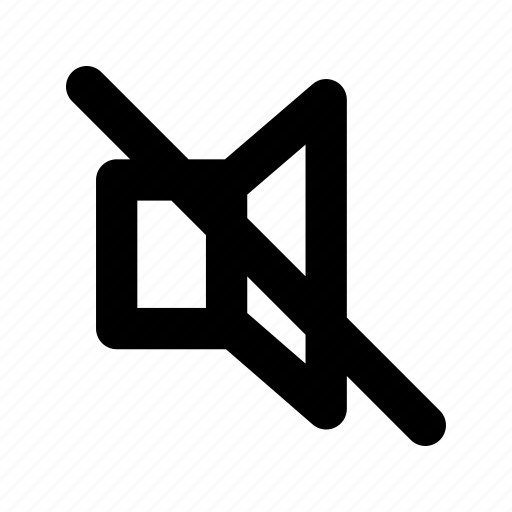 mute, silent, sound, user interface icon