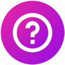 ask, help, mark, question, ui, ux icon