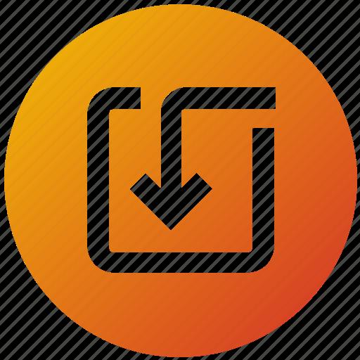 arrow, direction, receive, ui, ux icon
