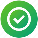 approved, complete, select, tick, ui, ux, verified icon