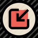 arrow, in, login, ui, ux