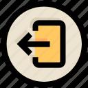 arrow, in, login, right, ui, ux